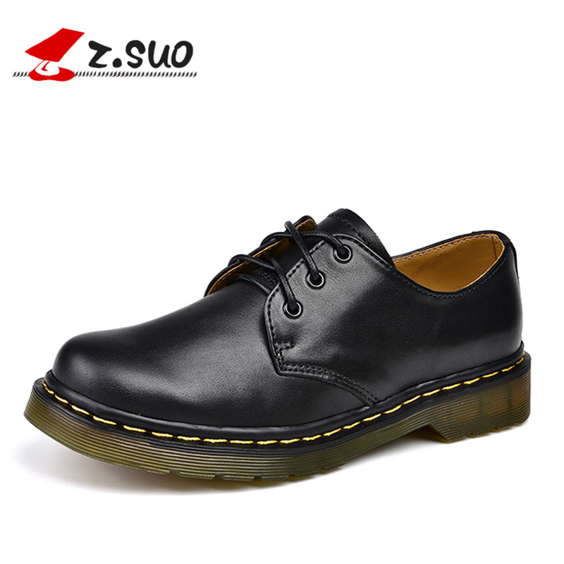 z.suo Handmade Fashion Black Women's Shoes Cow Leather TPR Sole Luxury Brand Casual Shoes Women Platform Flats Plus Size 40 018N fashion baby flats tassel soft sole cow leather shoes infant boy girl flats toddler moccasin 17mar20