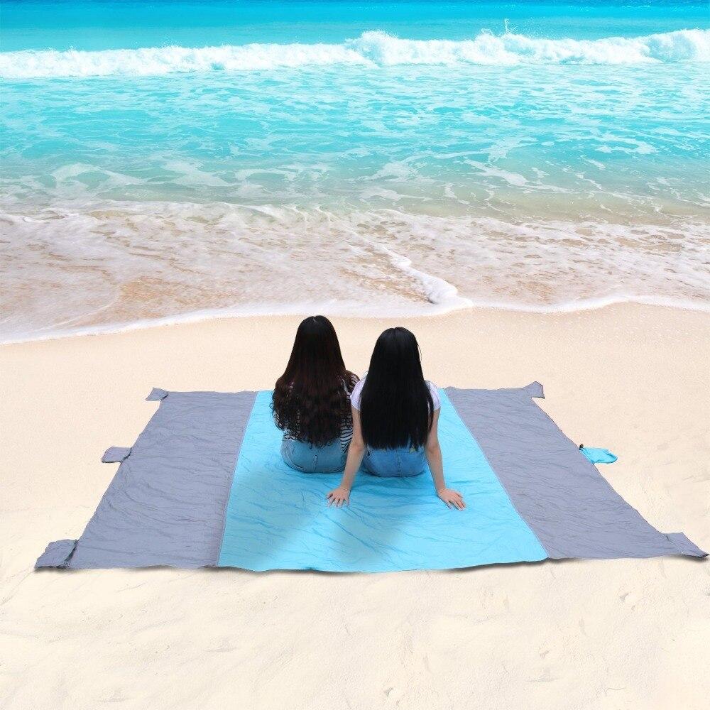 Beach Blanket No Sand: Outdoor Compact Nylon Beach Blanket Sandproof Waterproof