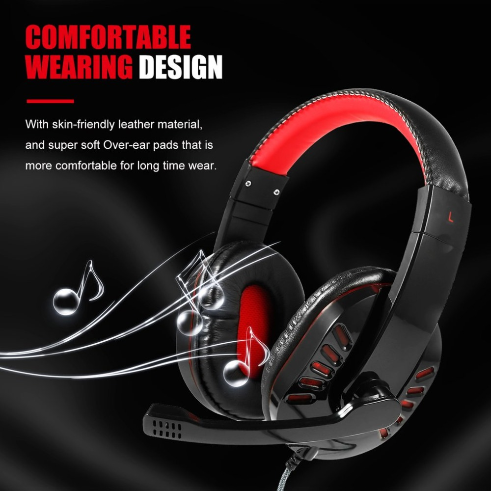 SY755MV Gaming Headset with Mic-Sound Clarity Noise Reduction Headphone LED Lights for Computer Game for PS4/XBOX-ONE