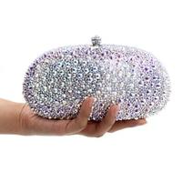 Роскошные серебряные полный алмазов сцепления вечерние сумки, Женская мода Кристалл Пром сцепления кошелек кошельки Свадебные SAC Pochette коше