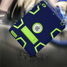 Wes für apple ipad2 ipad3 ipad4 kids safe rüstung stoßfest heavy duty silicon + pc fall-abdeckung für ipad 2 3 4 tablet pc