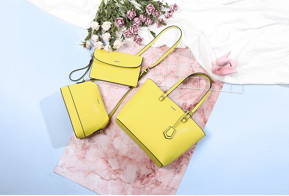 Exquisite set of 3 PU Leather Bags