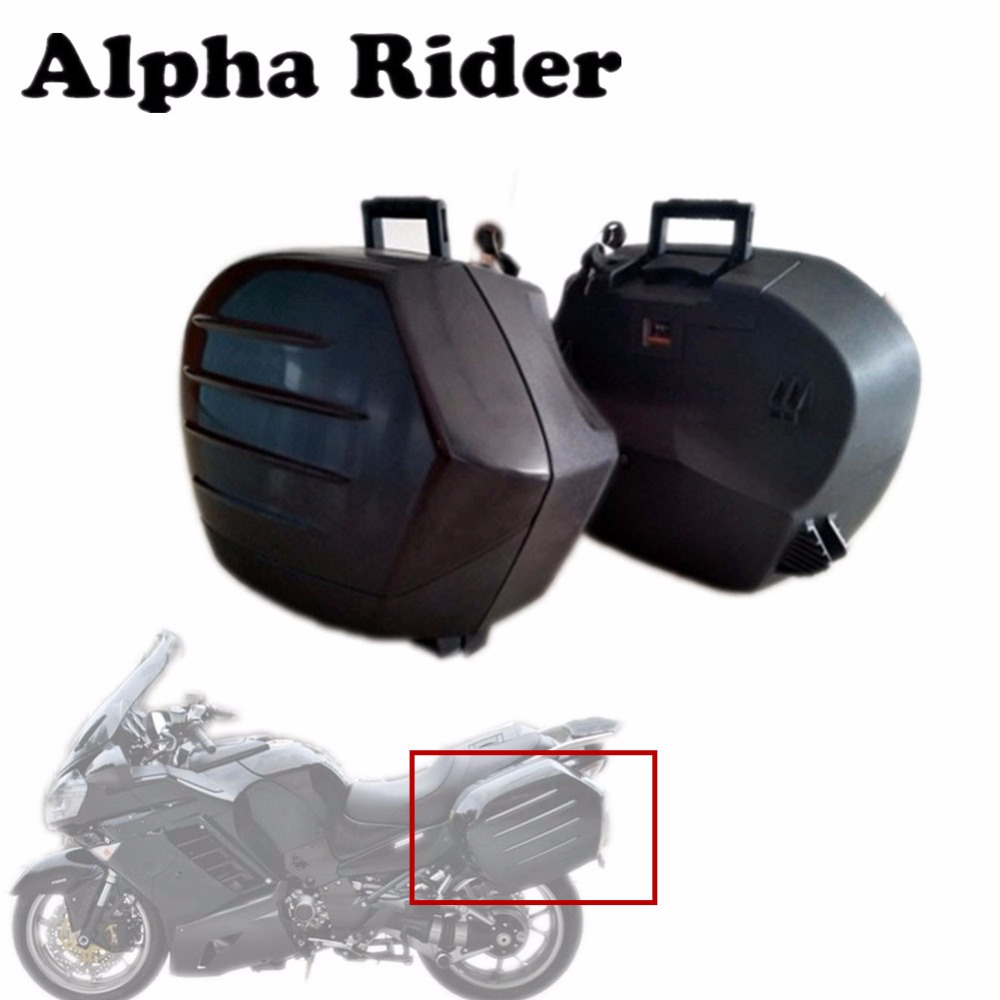 High Quality Plastic Side Luggage Saddle Boxes Bags Trunk Tool Case for Kawasaki Concours 14 ZG1400