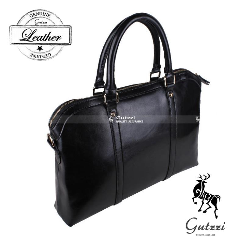 Gutzzi Véritable Split En Cuir Porte Documents Messenger Ordinateur - Sac porte document femme