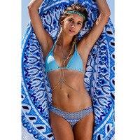 New Arrival Bikini 2017 Hot Swimwear Women Swimsuit Push Up Brazilian Bikini Set Sexy Floral Beachwear