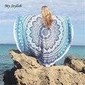 1 pcs rodada hippie borla praia jogar mandala tapeçaria toalha yoga mat bohemian elegante nov 21