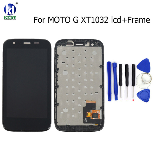 "4.5"" For Motorola MOTO G XT1032 XT1033 LCD Display Touch Screen Digitizer with Bezel Frame Full Assembly"