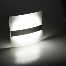 Bezprzewodowy czujnik ruchu PIR ściana światło lampy LED Auto On Off zasilany z baterii zimny biały dla kryty sypialnia domu