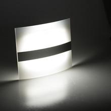 אלחוטי PIR Motion חיישן LED קיר אור מנורה אוטומטי על Off סוללה מופעל מגניב לבן עבור שינה מקורה בית