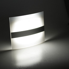 Wireless PIR Motion Sensor LED Wall Light Lamp Auto On Off Battery Powered Cool White For Indoor Bedroom Home