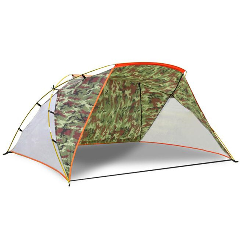 3-4 Persons Summer Outdoor Fishing Tents Shade Awning Camping Beach UV Canopy Tent Camouflage sun Shelter Red tarp pergola ED52 chiaro паула 4 411011706
