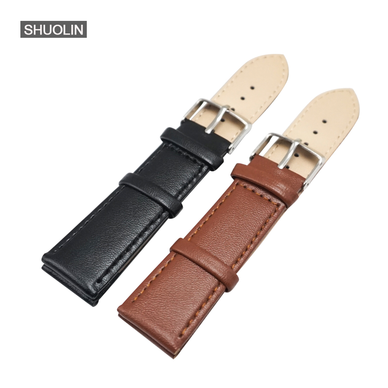 Genuine Leather Ladies Watch band Strap 18mm 12mm 14mm 16mm 2017 new women men watchband 20mm/22mm Straps 18 Watchband 20mm S025 new matte red gray blue leather watchband 22mm 24mm 26mm retro strap handmade men s watch straps for panerai