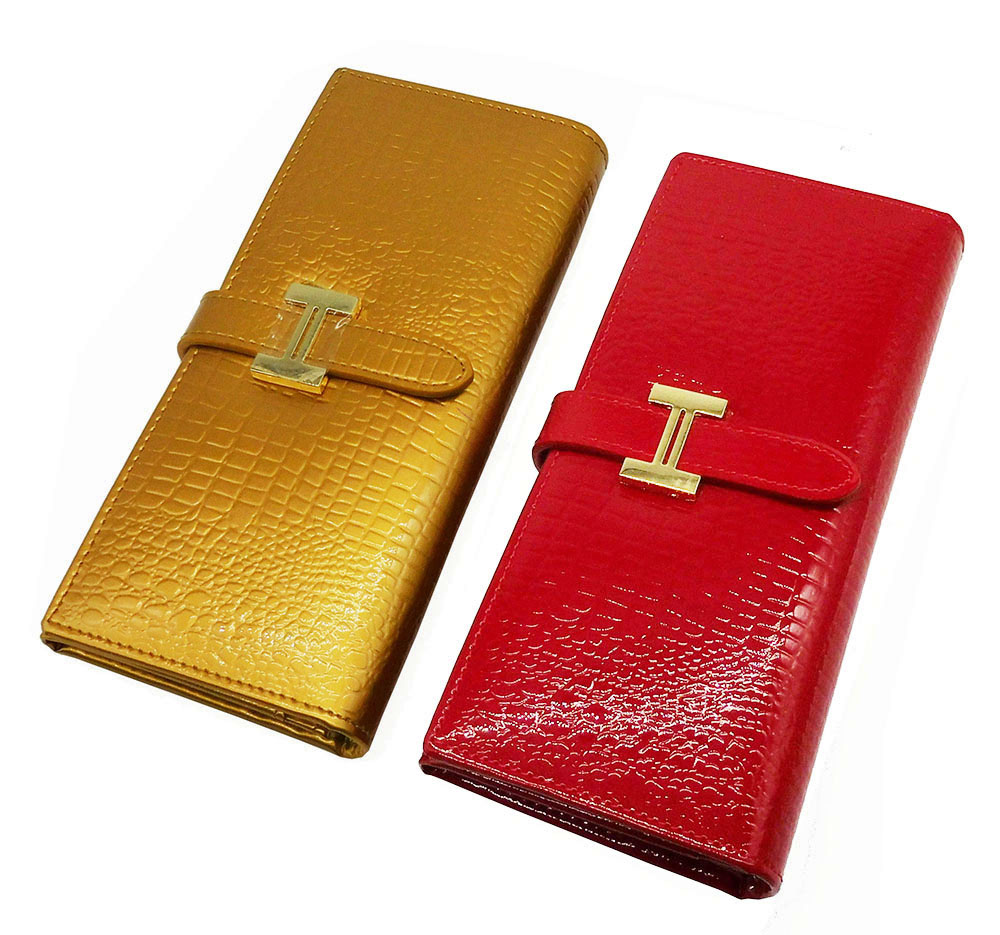 New Fashion Crocodile Pattern Wallets Luxury Genuine Leather Women Wallet Bags Card Holder Long Design Hasp Coin Purse 2016 guapabien casual bear pattern hasp design large storage wallet for women