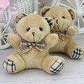 Оптовая продажа Н-9 См Коричневый Плед лук плюшевый мишка, плюшевые игрушки для мультфильм букет куклы, Подарки Промотирования 24 шт./лот