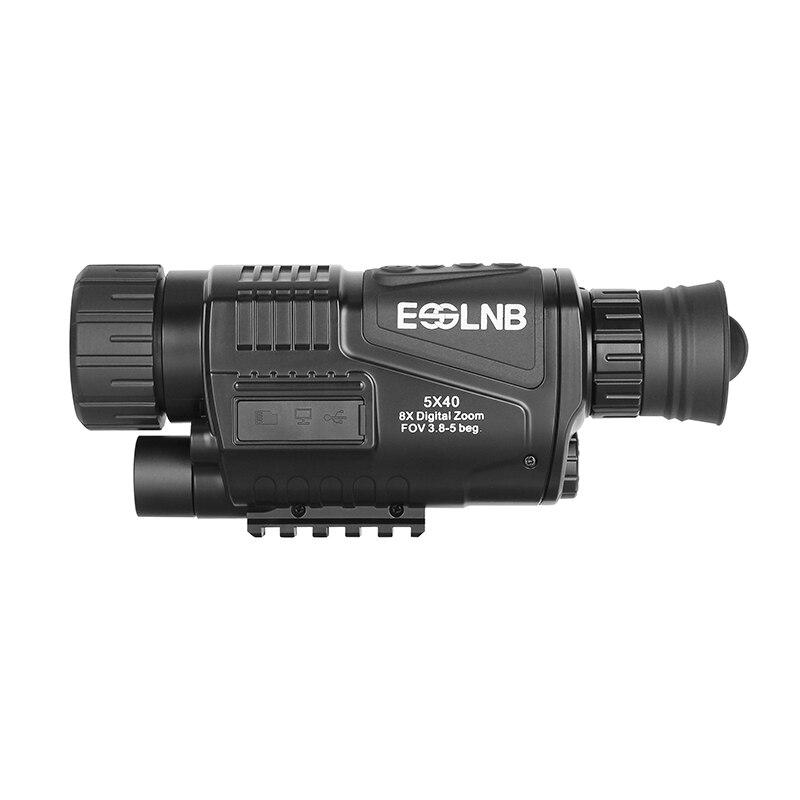 5X40 Monocular visión nocturna infrarroja cámara de visión nocturna militar Digital Monocular telescopio noche caza dispositivo de navegación - 3