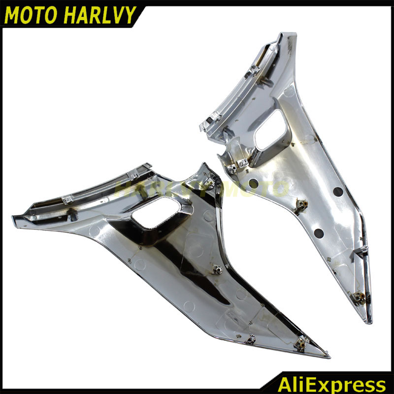 Chrome Motorcycle Side Cover Fairing Protectors Moto Frame ...