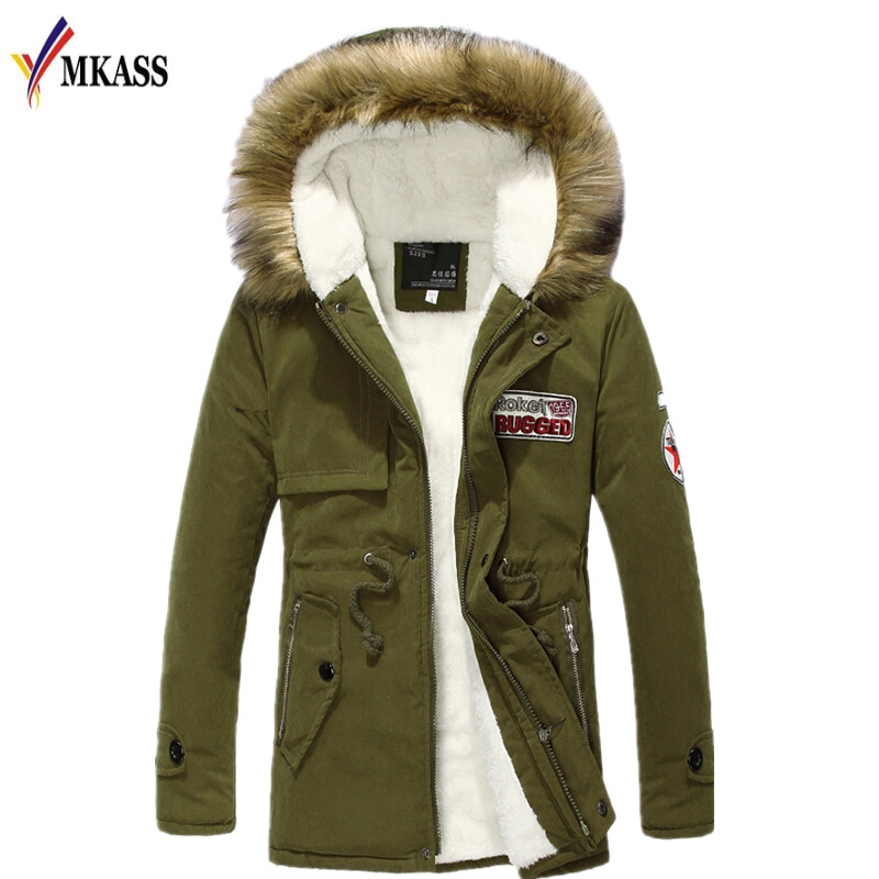 Brand Clothing Men Wear Thick Warm Hooded Fur Collar Long Jackets 2017 New Autumn And Winter High-Quality Casual Men Parkas new arrival 2017 men autumn and winter warm windbreaker long sleeves solid color hooded sports quick drying softshell men 150
