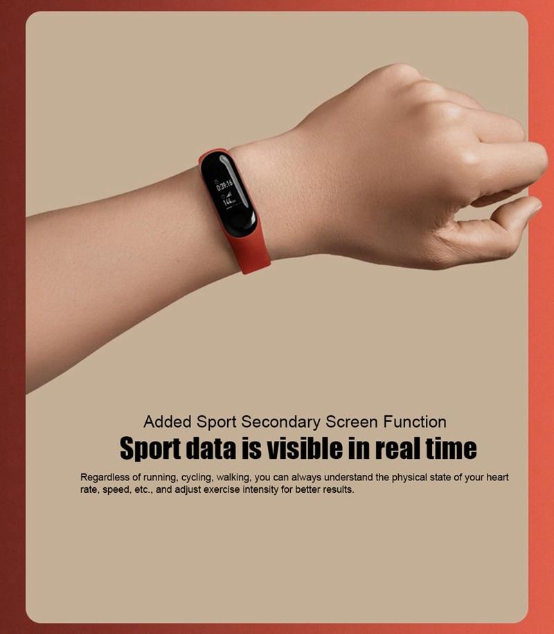 "Original Mi Band 3 Fitness Tracker Smart Bracelet 0.78""Color Screen 5ATM Waterproof Heart Rate Monitor Global Smartband In Stock 24"