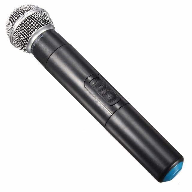 High Quality EU Plug Dual Professional Wireless Microphone System Cordless Handheld Microphone Mic Kareoke KTV
