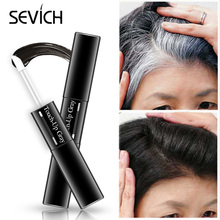 One-Time Hair dye Pen  Instant Gray Root Coverage Color white to dark brown black 2 brushes soft head easy apply temporary