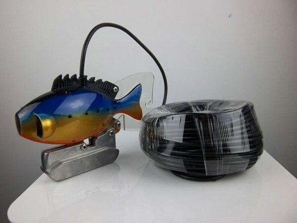 Подводная камера для рыбалки с кабелем 20 м водонепроницаемый цветной светодиодный