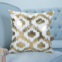 Bronzing Cushion Cover Printed Pineapple Luxury Tropical Linen Polyester Decorative Pillows Cover