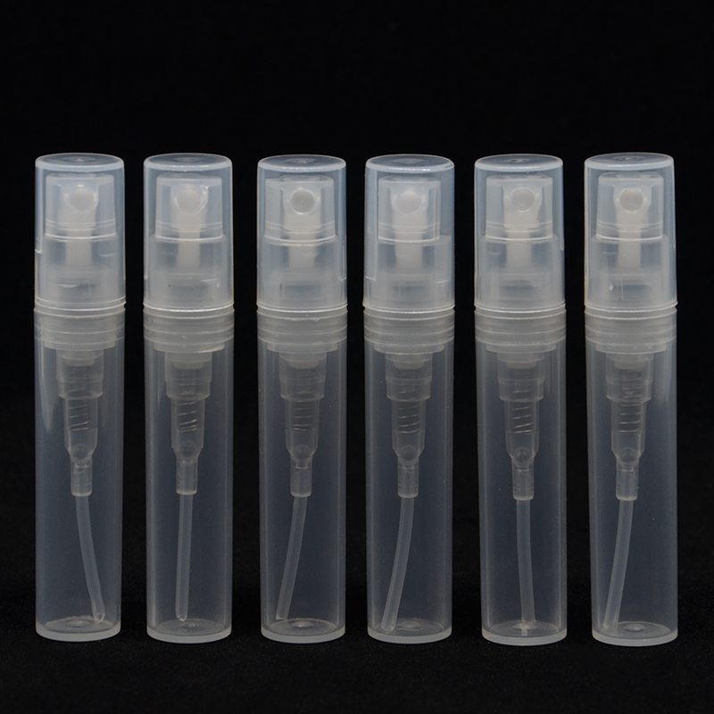 Бесплатная доставка (7 шт./лот) пустая пластиковая мини-бутылка для духов 2 мл 3 мл 4 мл 5 мл, небольшая промоакция, образец духов, распылитель