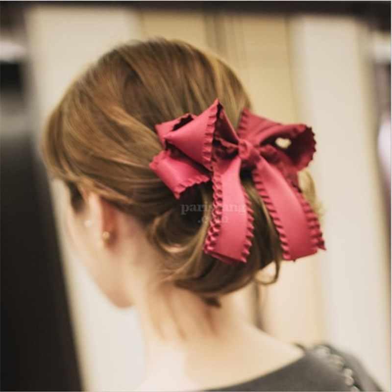 Тонкие аксессуары для волос женские тканевые стримеры трехмерные многослойные бант пружинный зажим конский хвост Зажим слово Зажим Шпилька карта
