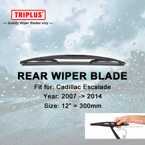 Rear Wiper Blade for Cadillac Escalade (2007-2014) 1pc 12 300mm,Car Rear Windscreen Wipers Back Window Windshield Wipers