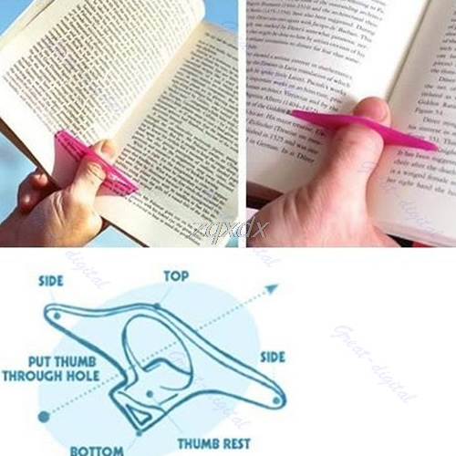 Multifunction Thumb Thing Book Page Holder Convenient Bookmark Jy23 19 Dropship