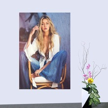Custom Gigi Hadid Cloth Silk Fabric poster Home Decoration Wall Art New arrival Cloth Silk Fabric wall poster print