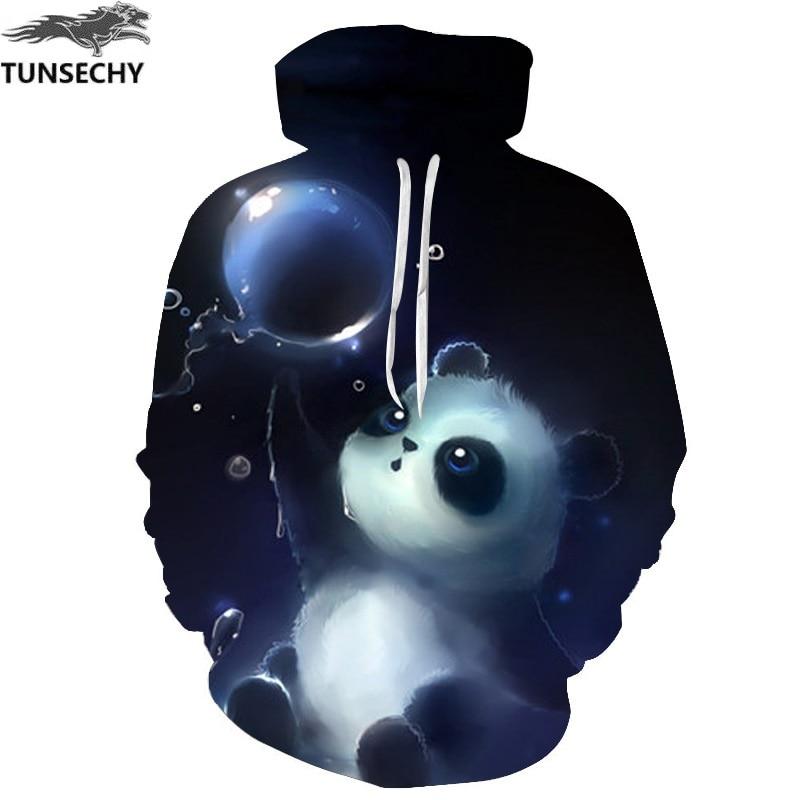 TUNSECHY Men&Women Hoodies Couples Casual Style 3D Print Personality panda Autumn Winter Sweatshirts Hoody Tracksuits Tops