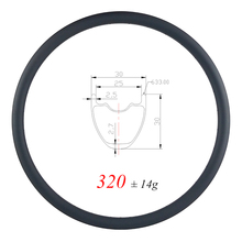 320 г ульсветильник 29er MTB XC 30 мм бескамерный обод из углеродного волокна 30 мм Глубокий UD матовый глянцевый 24H 28H 32H гравий горное колесо