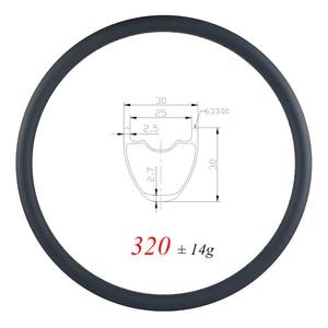 Image 1 - 320g ULTRA LIGHT 29er MTB XC 30mm clincher tubeless carbon rim 30mm deep UD matte glossy 24H 28H 32H gravel mountain wheel