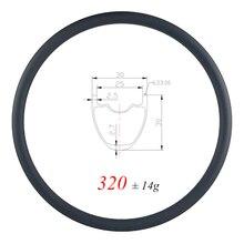Jante de vtt tubeless en carbone ULTRA légère de 320g, 29er, 30mm, profondeur UD, mat et brillant, 24H 28H 32H