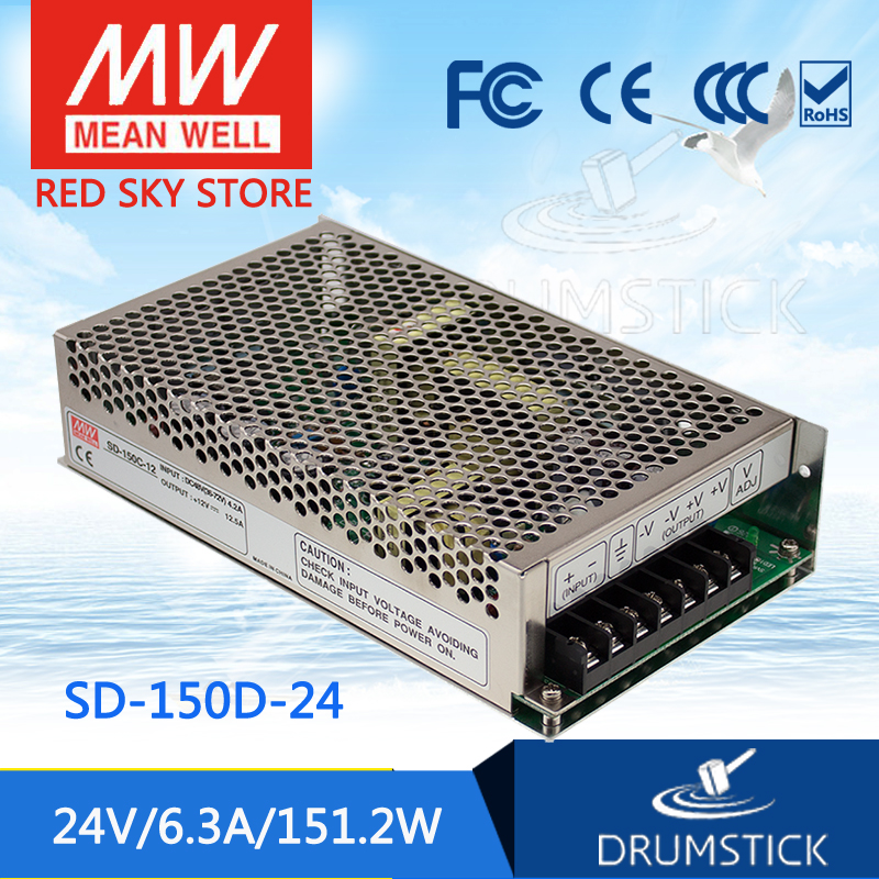 цена на Genuine MEAN WELL SD-150D-24 24V 6.3A meanwell SD-150 24V 151.2W Single Output DC-DC Converter