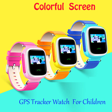 Free Ship Children GPS Smart Watch Wristwatch SOS Call Location Finder Locator Device Tracker for Kid Safe Anti Lost Monitor Q60