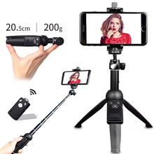 YUNTENG Self Stick for Ring Light Camera Phone Photography Smartphone Studio Live show Mini Foldable 3 in 1 Selfie Tripod