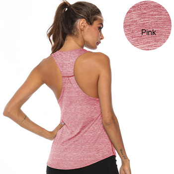 VEQKING Sleeveless Racerback Yoga Vest,Women Sport Singlet,Athletic Fitness Sport Tank Tops,Gym Running Training Yoga Shirts 11