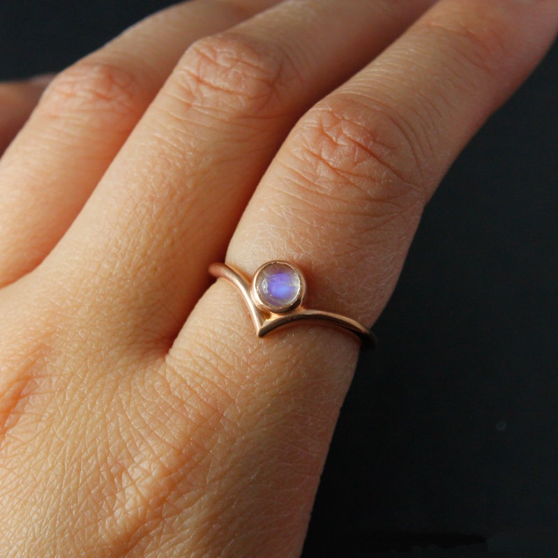 Rose Gold Thin Wedding Rings For Women Bohemia Vintage Jewelry Crystal Love Ring Luxury Eternity ...