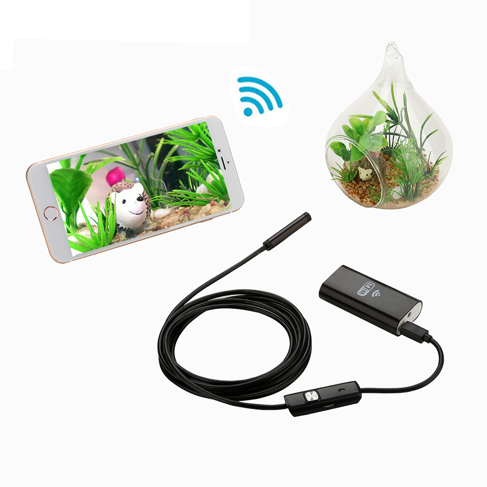 Neue WIFI Endoskop Mini HD 720 p 8mm Objektiv 1 mt 2 mt 5 mt Kabel Wasserdicht Schlange Inspektion endoskop Kamera für Iphone IOS Android