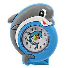Модные детские часы Puzzle игрушки мультфильм животных мягкий силиконовый Дети Кварцевые часы для мальчиков и девочек студент наручные часы