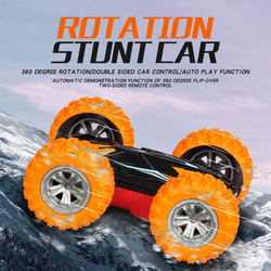 RC samochód 2.4G 4CH Stunt Drift deformacja samochód buggy samochód rock clawler zdalnie sterowany rolka samochód 360 stopni odwróć dzieci Robot RC samochody zabawkowe pilot|Samochody RC|Zabawki i hobby -