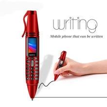 """Запись разговоров ручка мобильного Servo телефон K07 0,9"""" маленький Экран Dual SIM синхроконтакта фонарик набиратель номера через Bluetooth мини мобильный телефон"""