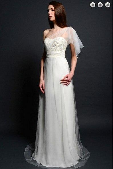 free shipping new fashion maxi 2018 brides maid vestidos formal plus size white long beaded Graduation gown   bridesmaid     dresses