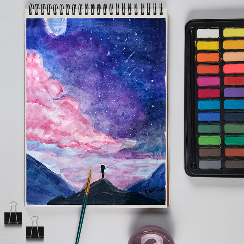 Potenta A4 16 sheets Artist Watercolor Paper Sketch Book For Oil Paiting Drawing Diary Creative Notebook Gift Drawing Art Papers