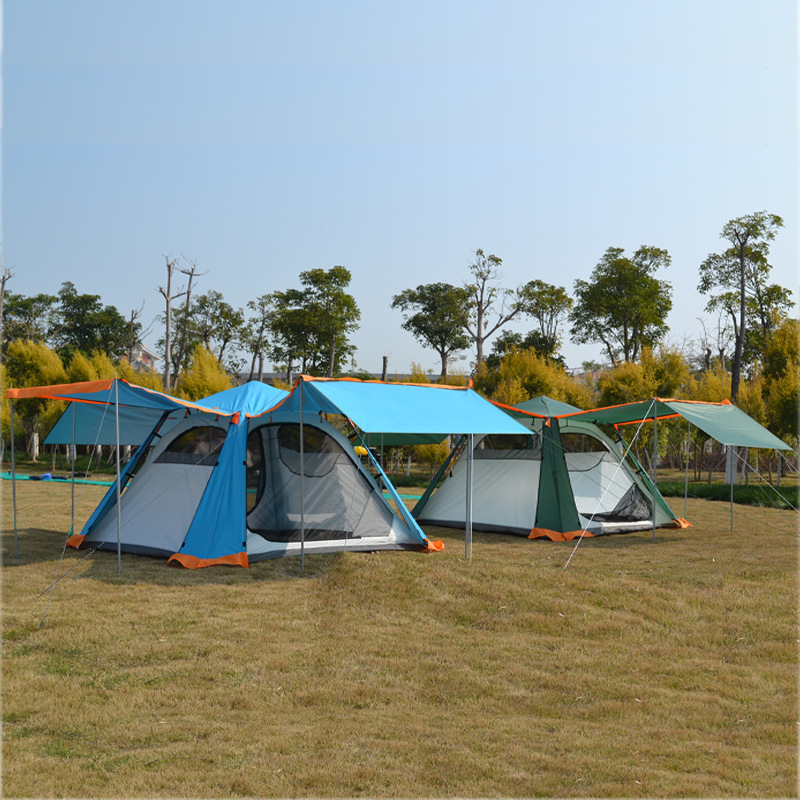 Tent outdoor 3-4 people fully automatic family double camping wild thick rainproof camping tent цена