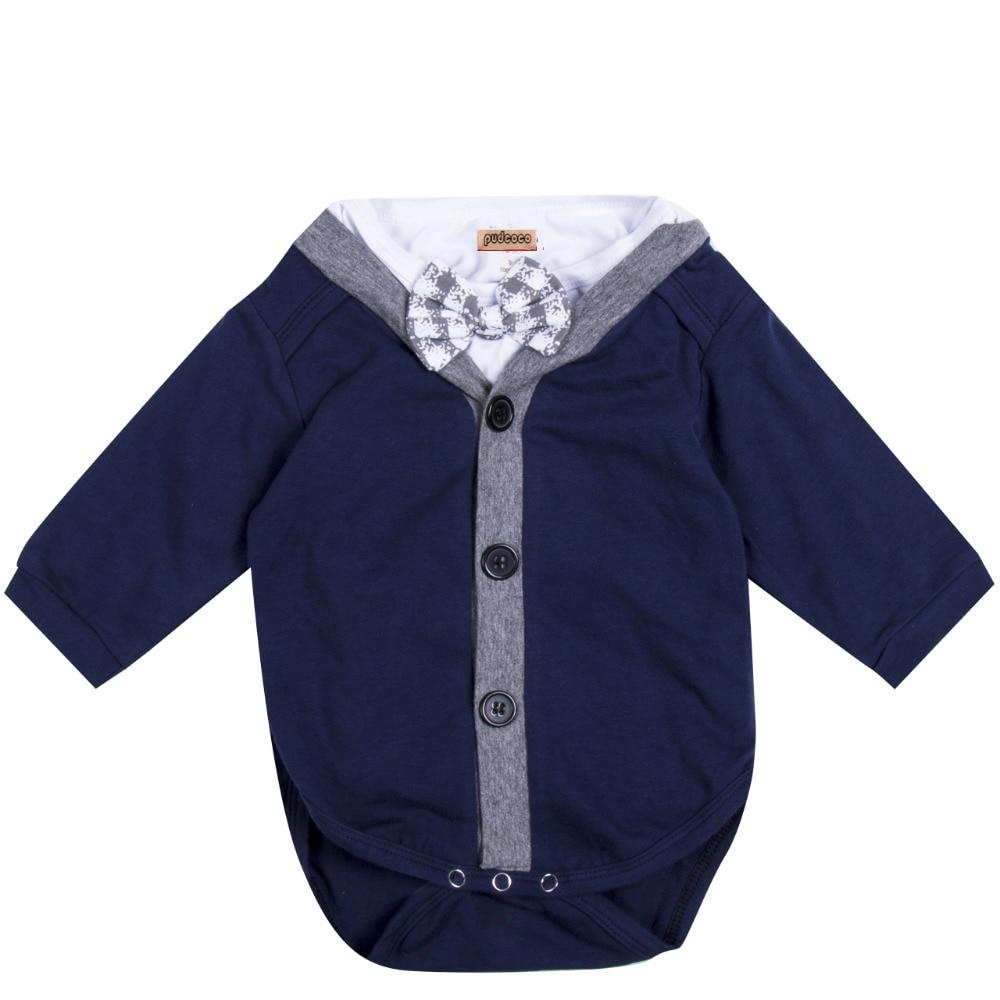 2PCS Gentleman Baby Boy Sweatshirt Coat AND Romper Jumpsuit Outfits Clothes 0-18M