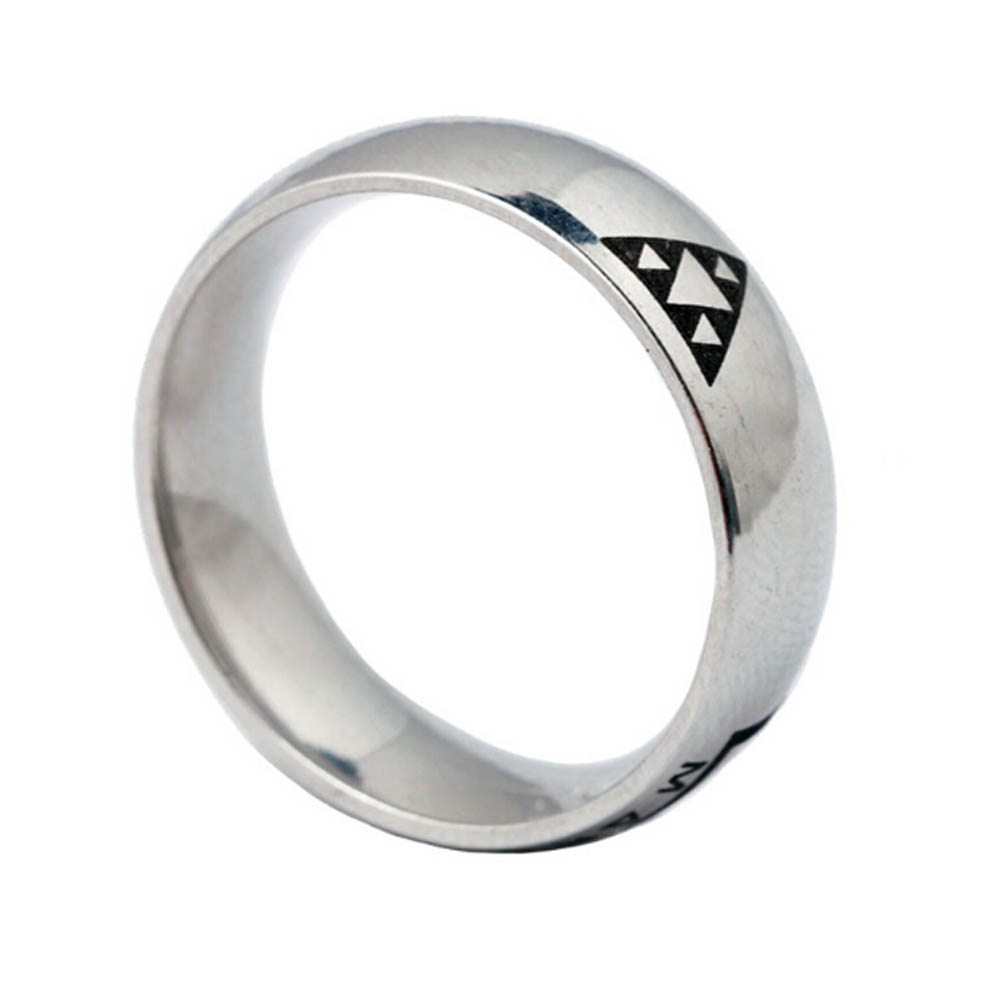 PS4 Game Deus Ex Logo Stainless Steel Ring Men Jewelry Game Anime Jewelry Wholesale