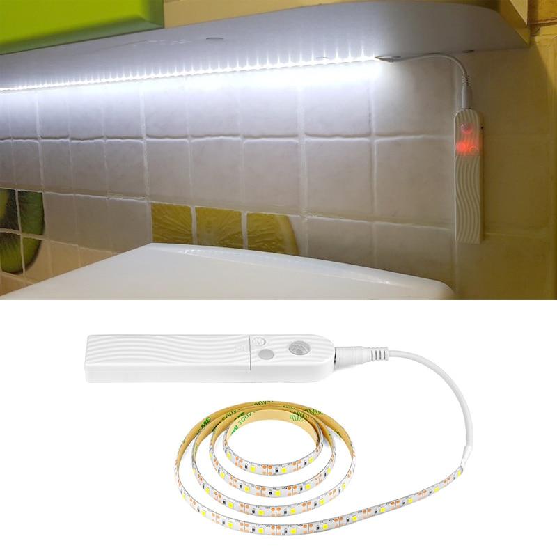 Motion Sensor Led Under Cabinet Light Battery Power Closet